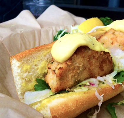 Crab and Shrimp Sandwich at The Fish Counter | tryhiddengems.com