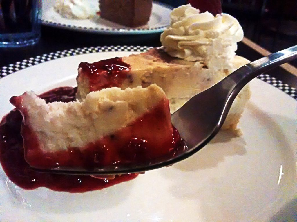 White Rasberry Crustless Cheesecake at True Confections | tryhiddengems.com