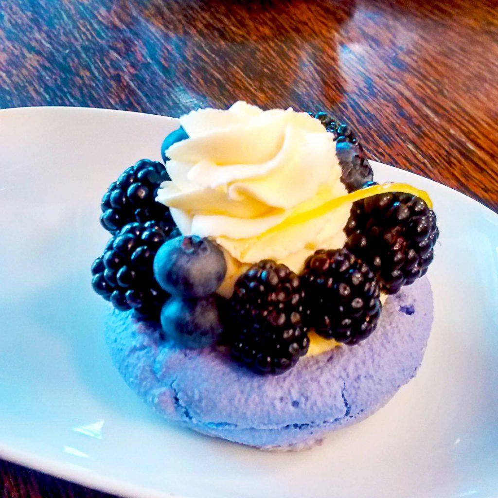 Blackberry Lemon Macaron Cake at Thierry | tryhiddengems.com