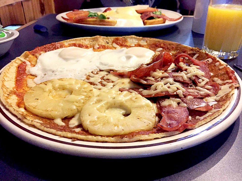 Pizza Pannekoek at Dutch Wooden Shoe Cafe | tryhiddengems.com