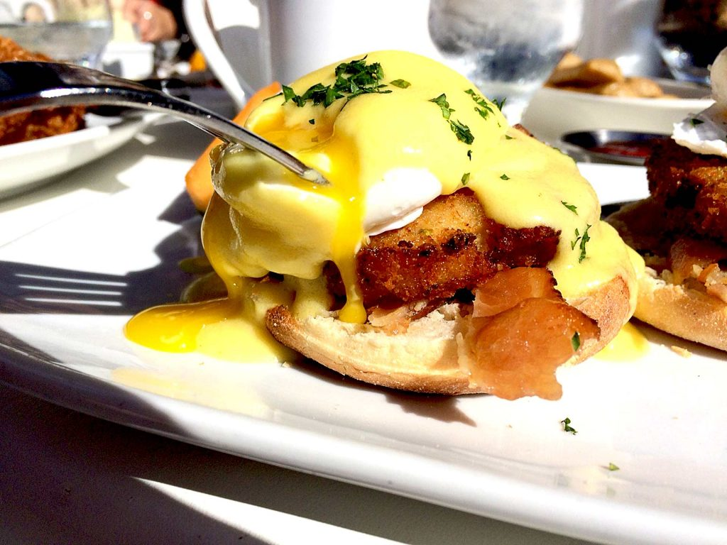 Crab Cake Benny at Kove Kitchen | tryhiddengems.com