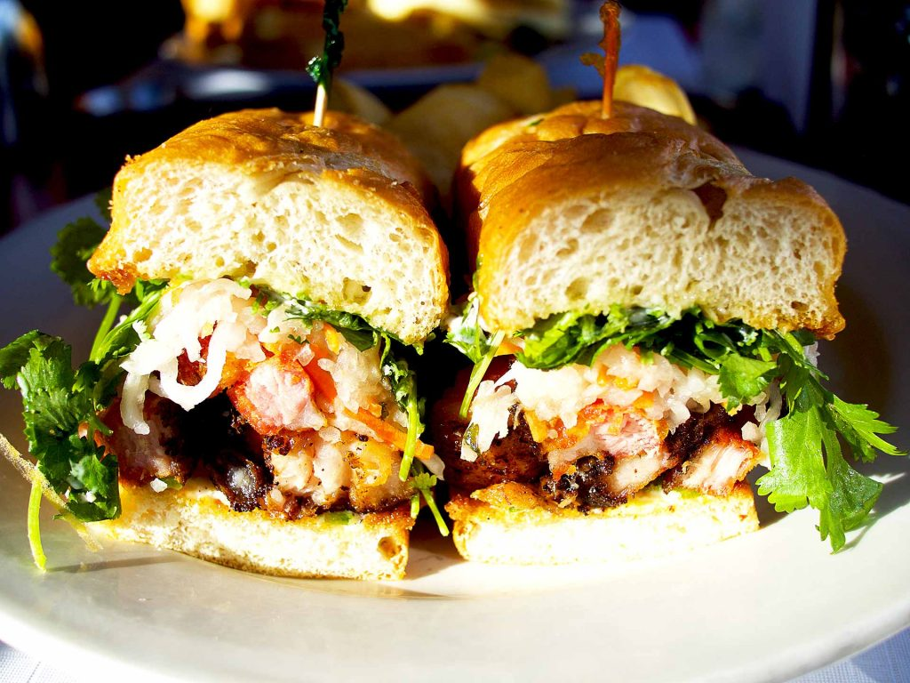 Pork Belly Sandwich at Red Wagon | tryhiddengems.com