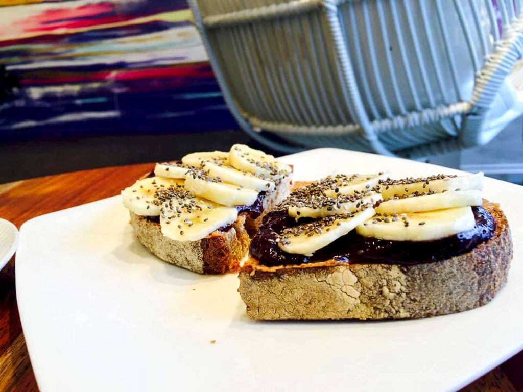 Butter Banana Toast at Ruby and Olive Cafe | tryhiddengems.com