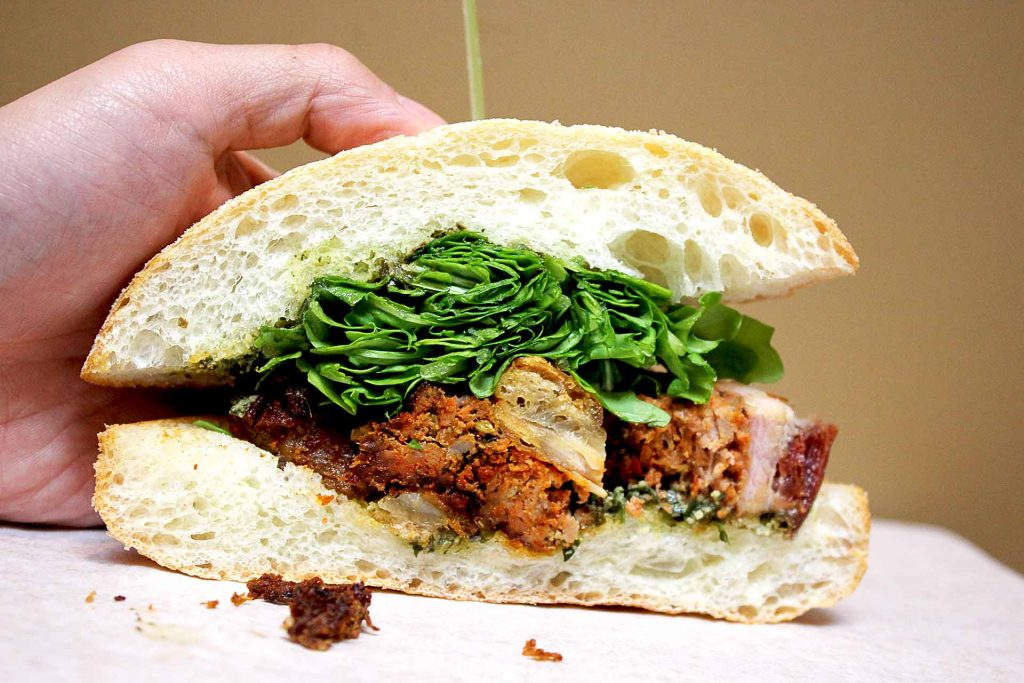Roasted Pork Belly Sandwich at The Meatery | tryhiddengems.com