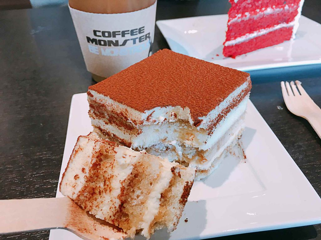 Tiramisu at Coffee Monster