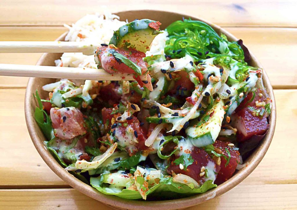 Create Your Own Bowl at The Hoke Poke | tryhiddengems.com