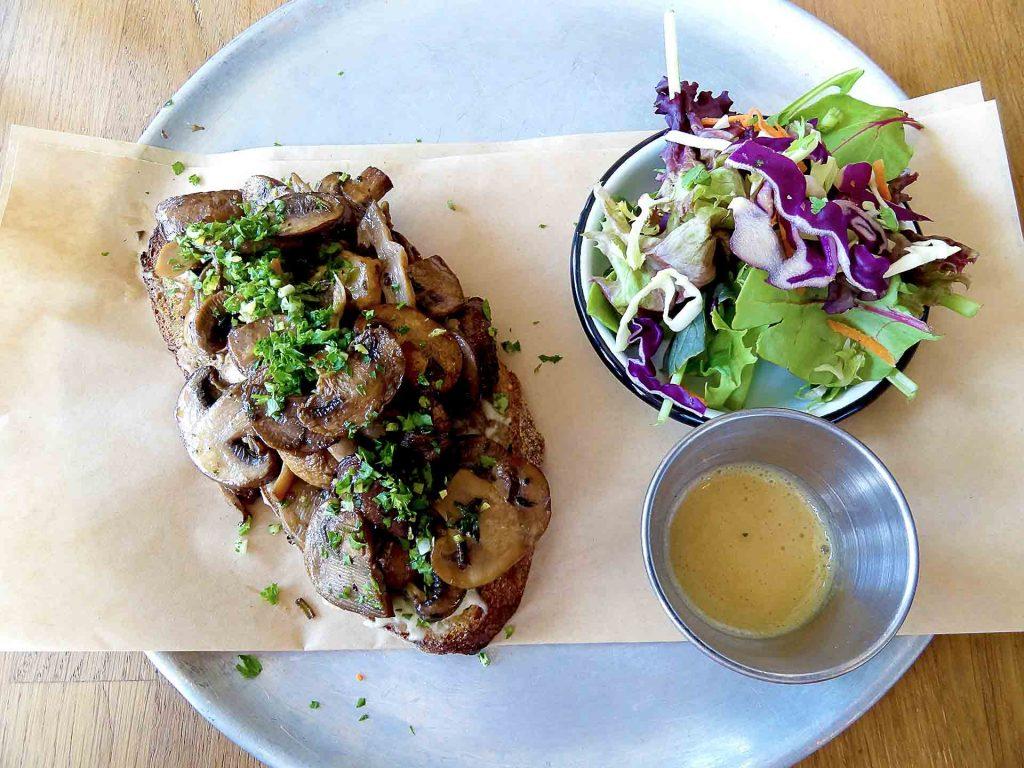 Mushroom + Ricotta Toast at TurF | tryhiddengems.com