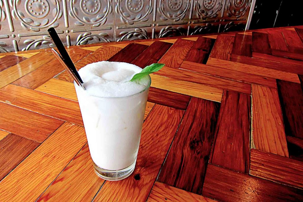 Chau's Signature Coconut Shake at Chau Veggie Express | tryhiddengems.com