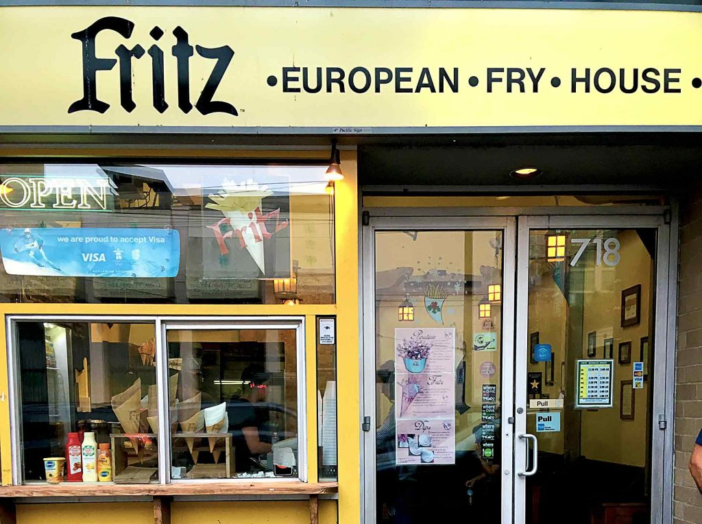 Fritz European Fry House - Fast Food Shop - Vancouver Downtown - Vancouver
