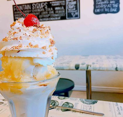 Pineapple Sundae at Glenburn Soda Fountain and Confectionery | tryhiddengems.com