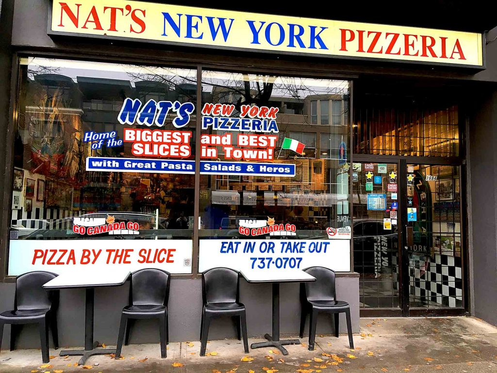 Nat's New York Pizzeria - Italian Pizza Shop - Kitsilano - Vancouver