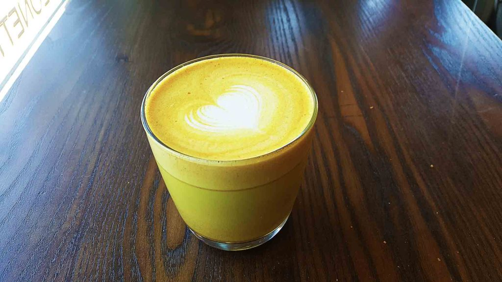 Chili Turmeric Latte at The Federal Store Luncheonette & Grocer | tryhiddengems.com