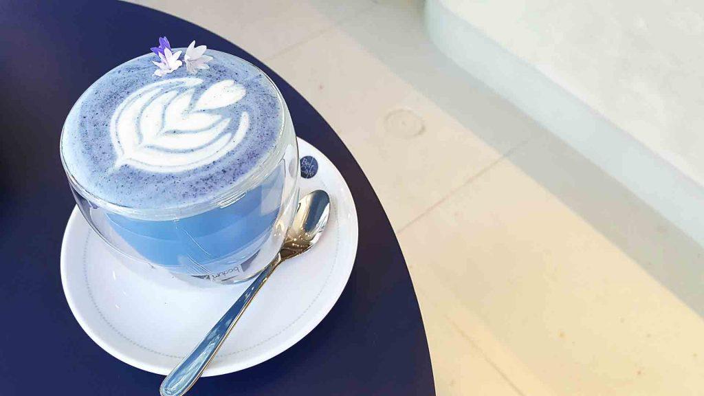 Lavender Tea Latte at Bel Cafe | tryhiddengems.com