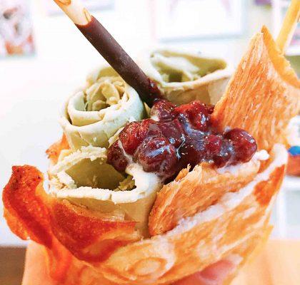 Matcha Taiyaki Rolled Ice Cream at ON YOGURT   tryhiddegems.com