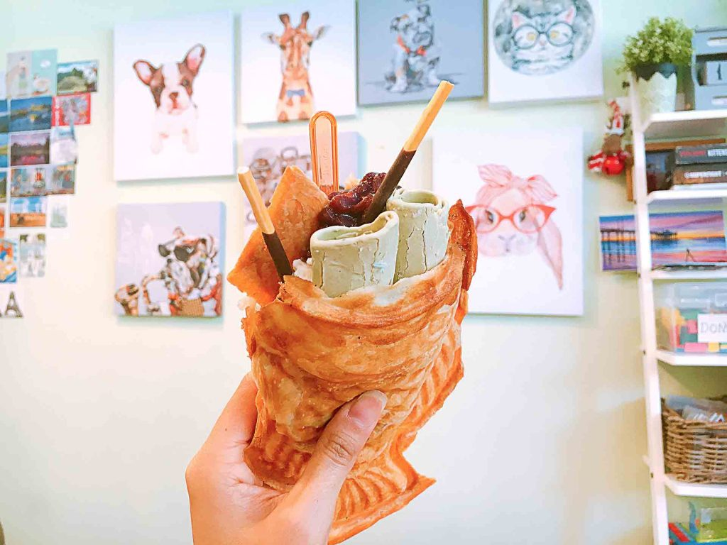 Matcha Taiyaki Rolled Ice Cream at ON YOGURT | tryhiddegems.com