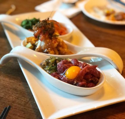 Tartare Sampler at Kosoo | Downtown Vancouver