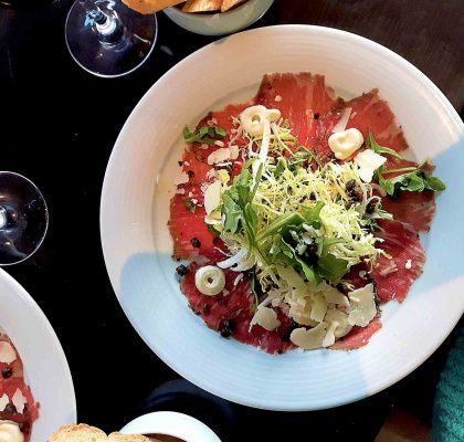Beef Carpaccio at The Lobby Restaurant | Hidden Gems Vancouver