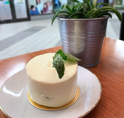 Yuzu lemon poppyseed cream cake | Fresh Press Coffee Bar | Richmond